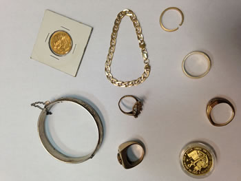 Gold items shared with Ottawa's gold dealers for pricing